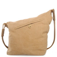 leather shoulder strap canvas shoulder bags for women - Thumbnail 1