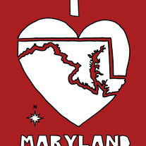 Maryland love, 5x7 print