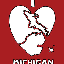 Michigan love, 5x7 print