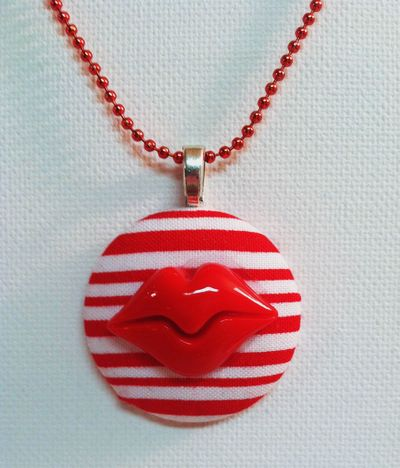 The Candy Striper's Kiss Necklace