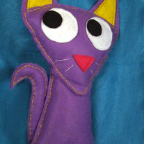 Felt Cat Decorative Plush - Tess the cat