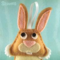 Felt Animal Easter Decoration - Toast the Bunny