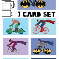 Comics on bike Blank (no text) 7 card set #2