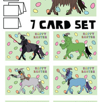 Centaurs Easter 7 card set