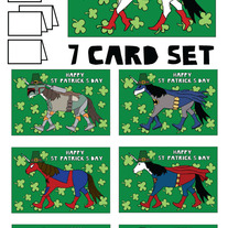 Unicorns St patricks 7 card set