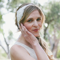 Rhinestones, Pearls, and Lace - Art Deco Bridal Tie Headband or Halo