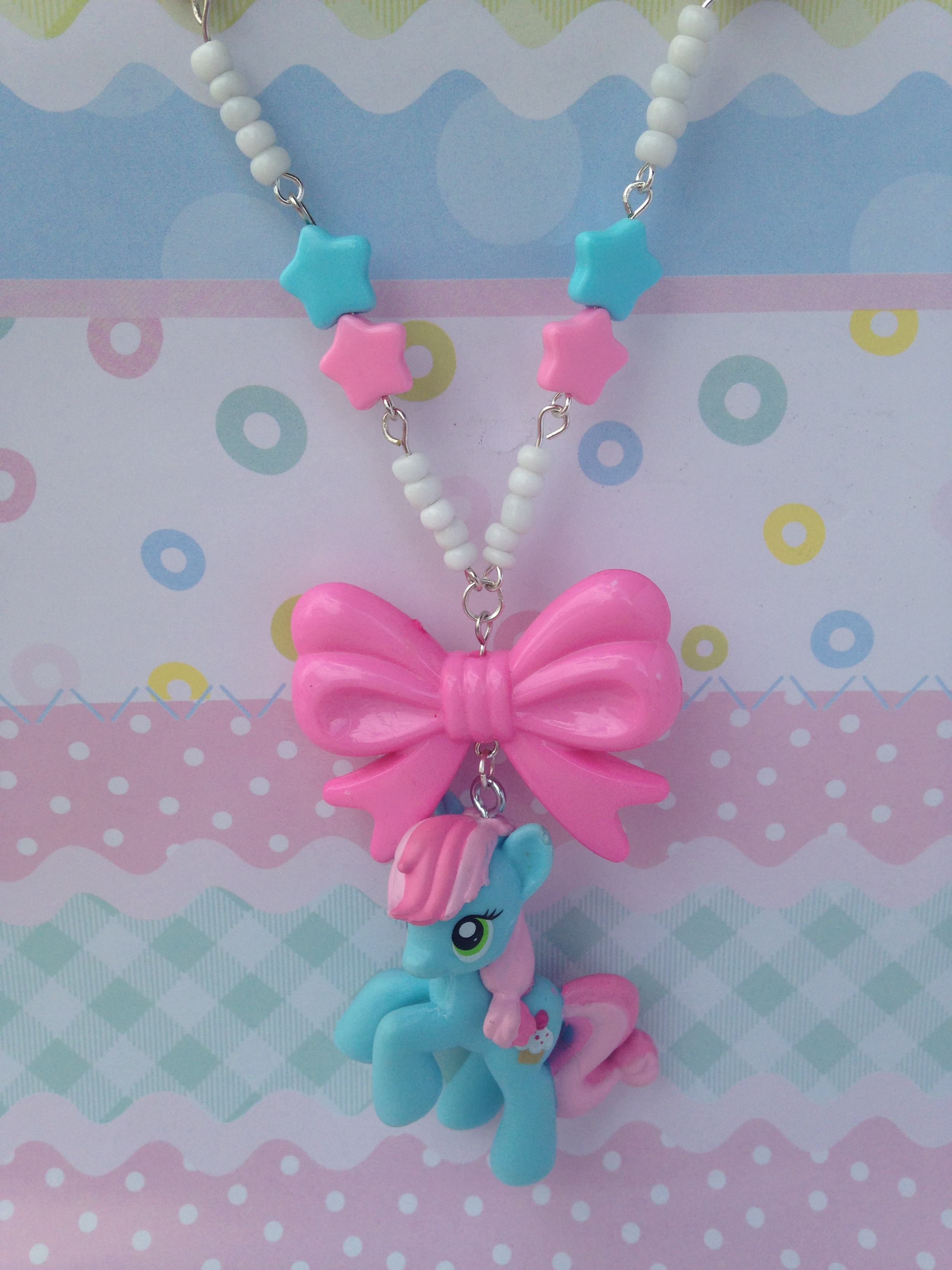 Oh So Kawaii: Sweet Blue My Little Pony Necklace