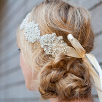 Luxe Crystal Bridal or Special Occasion Tie Headband, Halo, or Sash