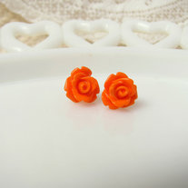 Tiny Rosebud Studs - Color Choices