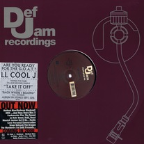 "LL Cool J - Take It Off/Back Where I Belong 12"" Vinyl"