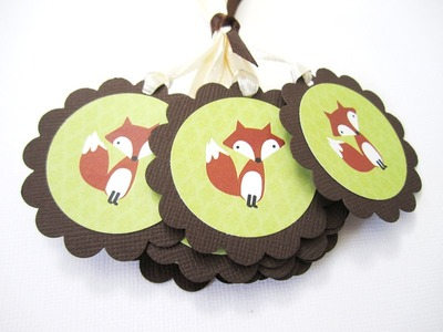 Cute Fox Favor Tags