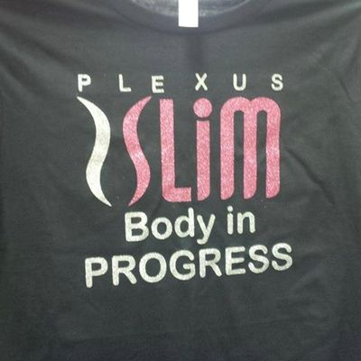 Plexus body in progress vneck glitter shirt