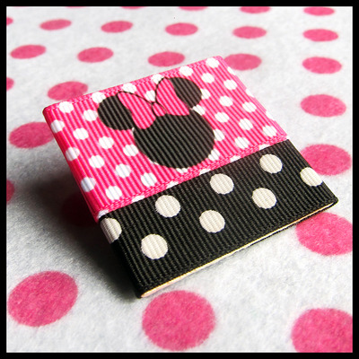 Ribbon candy minnie mouse diy pin brooch or magnet