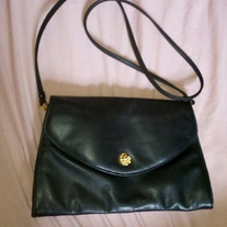 Black Purse with Gold Button
