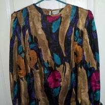 Nicola Colorful Blouse Sz 10