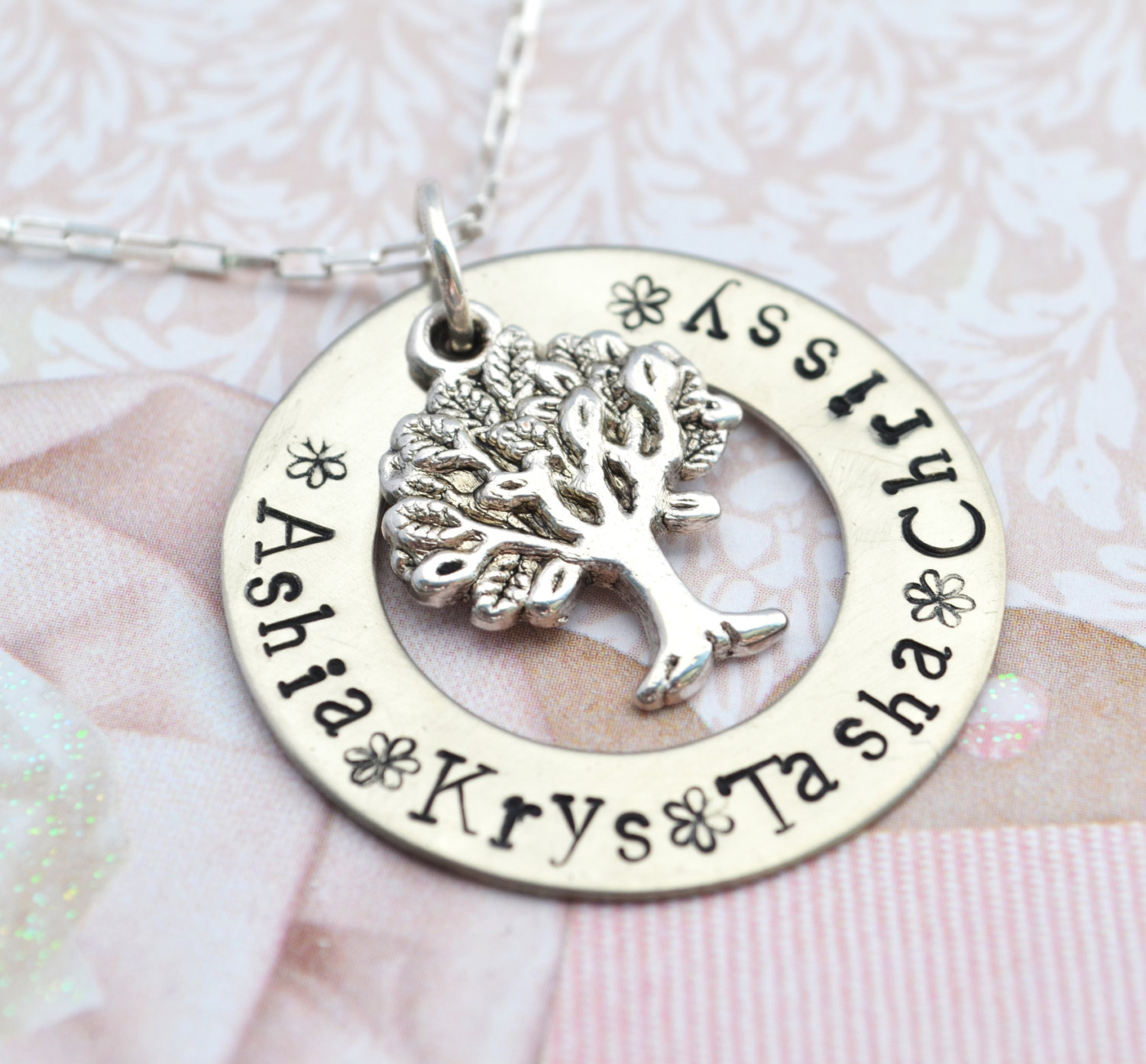 Personalized mother necklace hand stamped personalized for Jewelry for mom for christmas