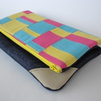 SCRAPPY FOLD-OVER CLUTCH