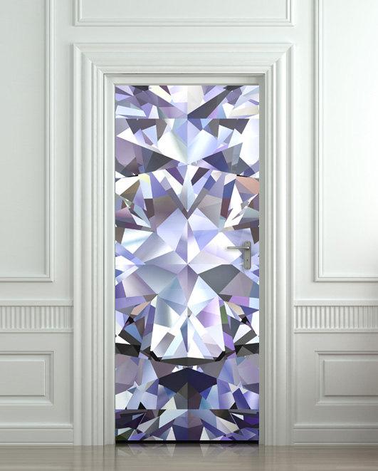 Wall Door STICKER Poster Diamond Shimmer Shine Bling Rhinestone Cover Film 30