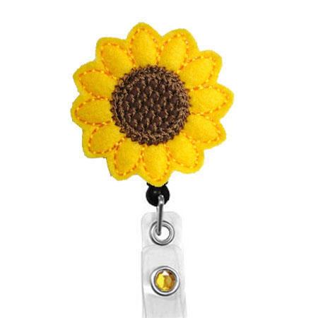 Sunflower Name Badge Holder Nurses Badge Holder Cute