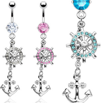 Dangling Anchor Belly rings