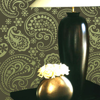Lovely Paisley Design Damask Pattern Wallpaper Stencil for Walls Decor better than Vinyl