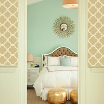 Sienna Beautiful Quatrefoil Four Leafs Clover Moroccan inspired Modern Designer allover Pattern Stencil for Walls Decor better than Vinyl