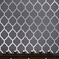 Beautiful Quatrefoil Moroccan Wall inspired Modern Designer Pattern Stencil for Walls Decor better than Vinyl