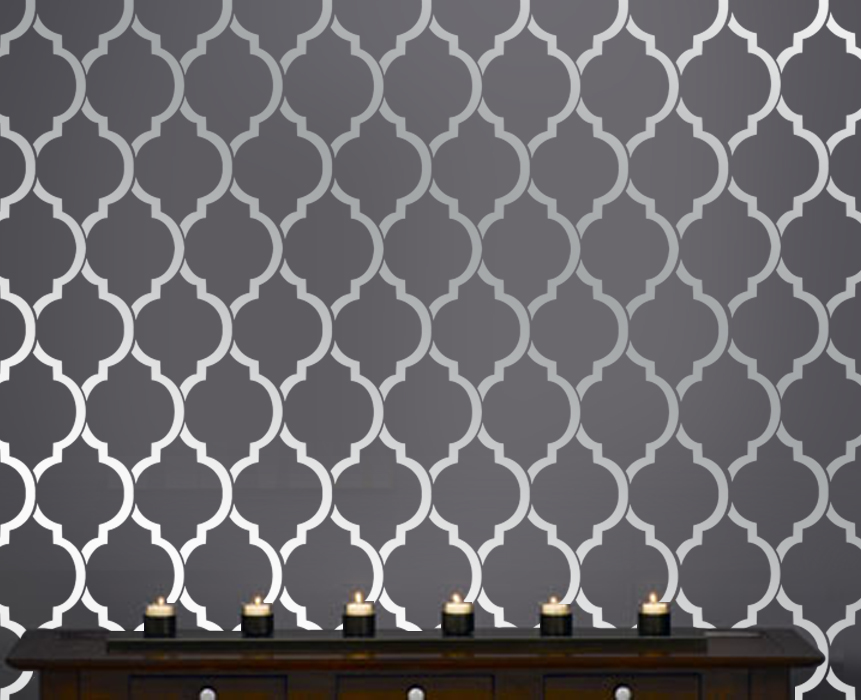 Beautiful Quatrefoil Moroccan Wall inspired Modern