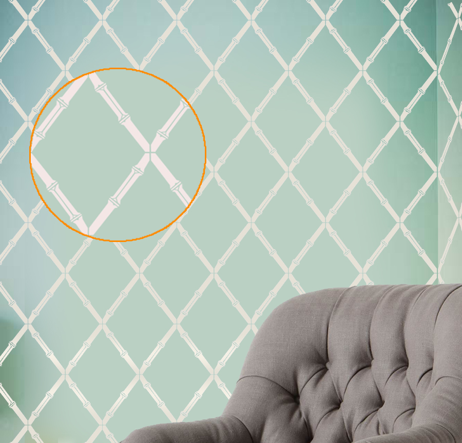 Bamboo sticks wall stencil modern designer pattern decor - Stencil patterns for walls ...