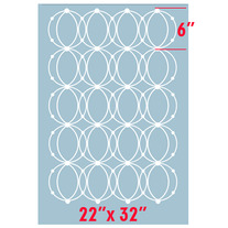 Contemporary Geometric Circles Clean Look Modern Designer Pattern Stencil for Walls Decor