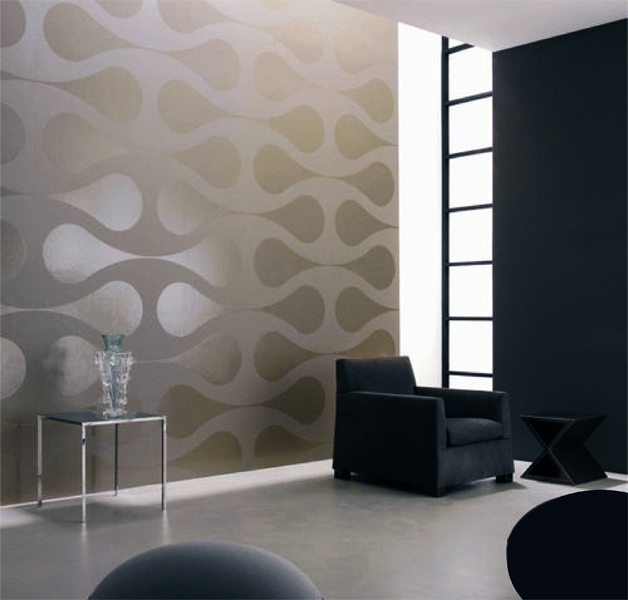 pattern play contemporary round geometric shapes clean look modern designer pattern stencil for walls decor