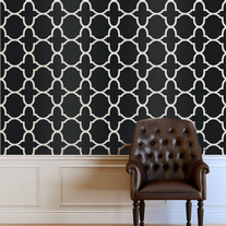 Stam Morocco Inspired Designer Pattern Stencil for Walls Wallpaper Decor