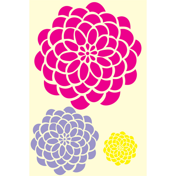 Bold Blossom Kit Small Large XLarge Zinnia Flower Designer ...