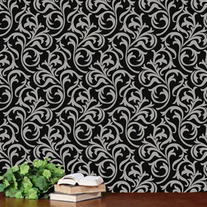 Oh So Romantic Heather Geo Scroll Swirls Modern Wall Allover Designer Pattern Stencil