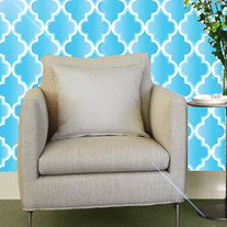Beautiful Quatrefoil Moroccan inspired Modern 3 Designer Pattern Stencil for Walls Decor