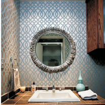 Claudia Lattice Allover Designer Pattern Wall Stencil