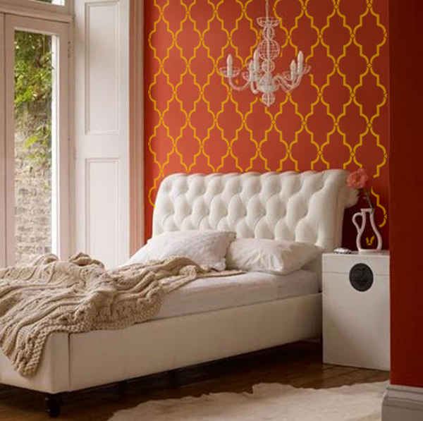 stencil boss tafra ii moroccan geometric old world allover with designer walls - Designer Walls
