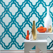 Mac Quatrefoils Abstracted Swirls Wall Stencil Allover Morocco Designer Pattern Decor