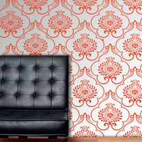 Damask Designer Pattern Wall Stencil Home Decor
