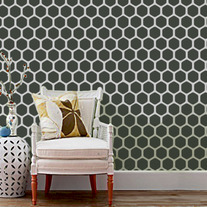 Honey Comb (hexagon) DIY Wall Geometric Old world Allover
