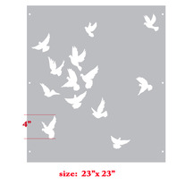 Kissing Sky Bird Wall Stencil Home Decor