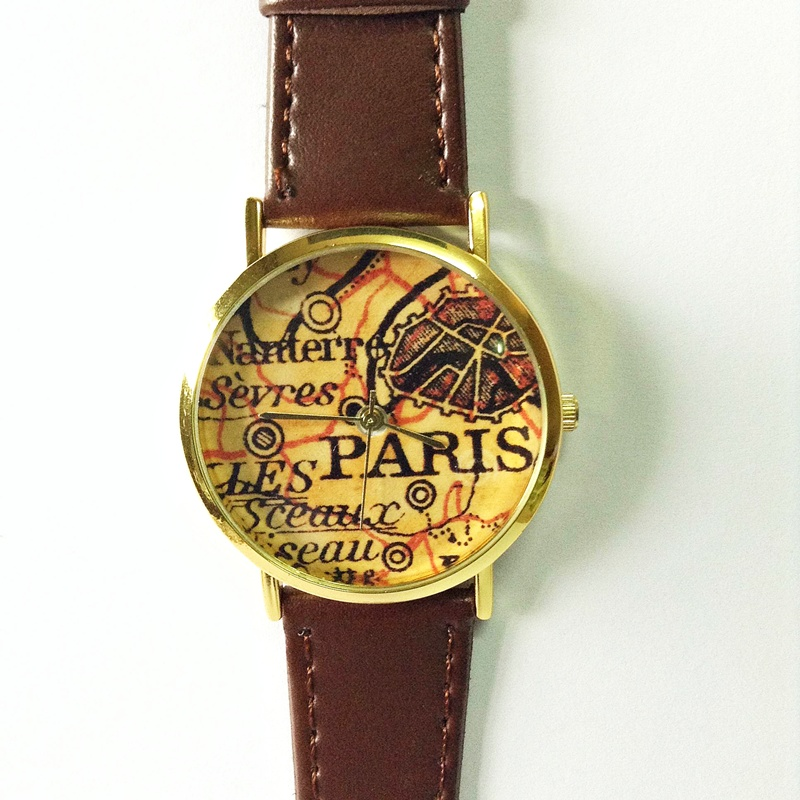 Paris watch map watch vintage style leather watch women watches paris watch map watch vintage style leather watch women watches boyfriend watch gumiabroncs Gallery