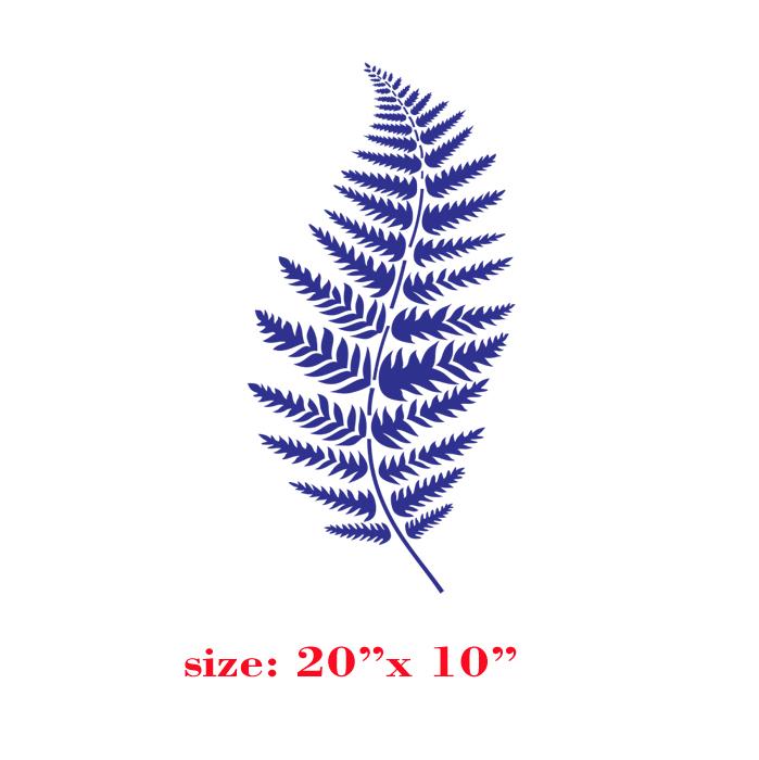 Fern leaf flower designer pattern wall stencil deco - thumbnail 1
