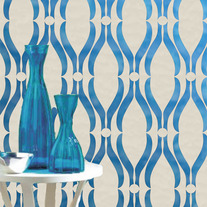 Diana Abstracted Lattice Swirls Wall Stencil Home Decor