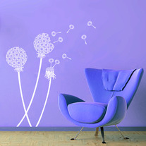 Dandelion plant Pattern Blocks Wall Stencil Home Decor