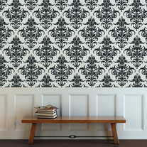 Damask Delphine Pattern Allover Wall Stencil Home Decor