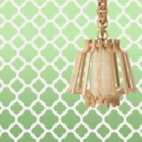 Mia Quarterfoil Clover Moroccan Allover Pattern Wall Stencil Home Decor