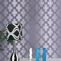 Roma Allover Pattern Wall Stencil Home Decor