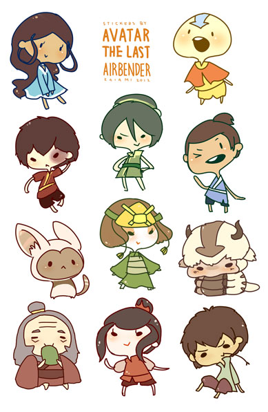 Avatar the last airbender sticker sheet