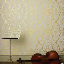 Lattice Modern Designer Allover Pattern Wall Stencil Home Decor